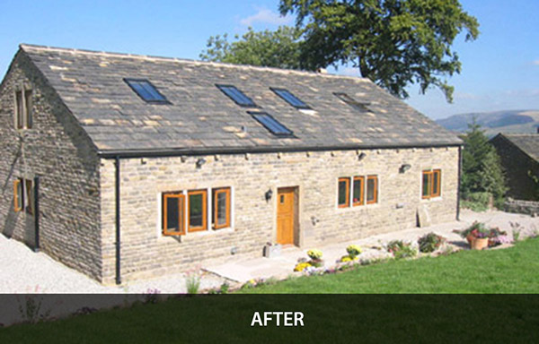 Barn conversion result, rural architecture