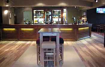 Hotel refurbishment bar area